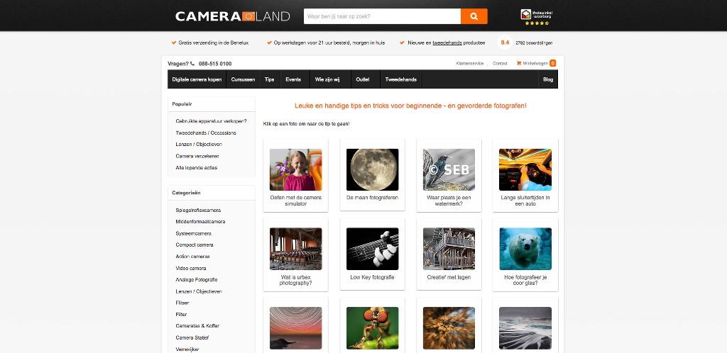 Leuke Webwinkel Blogs: Cameraland - WebwinkelMeerwaarde.nl
