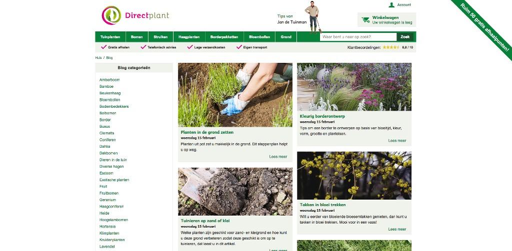 Leuke Webwinkel Blogs: Directplant - WebwinkelMeerwaarde.nl