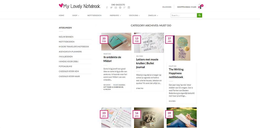 Leuke Webwinkel Blogs: My Lovely Notebook - WebwinkelMeerwaarde.nl